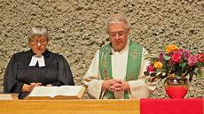 Waldshut, evangelisch, Kirchenbezirk Hochrhein, Christiane Vogel, Peter Berg; Quelle: K.-W. Frommeyer